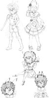 Kid Maid Mode sketches for BS4 by ProjectHalfbreed