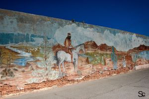 Wall mural in El Centro California by ShannonCPhotography