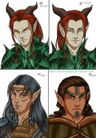 Game Character Portraits 1-4 by ShadesofNight