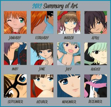 Art Summary of 2012 by samyhedgehog654