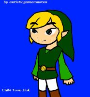 chibi Toon Link by artisticgamemaster