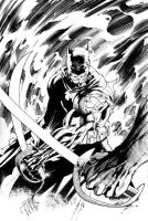 Batman vs Ra's al ghul Inks by Scott Williams by SWAVE18