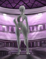 Giantess Draw - The 'Naughty Nova' by Colonel-Gabbo