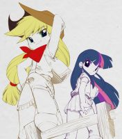 Apple jack and Twilight by jorama