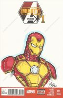 Iron Man cover bust commission by PonyGoddess