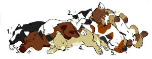 Free Adopts 1 -Number 5 Open- by DemonWolfZelda
