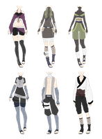 Naruto Outfit Adoptables 5 [CLOSED] by xNoakix3