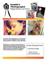 Camilles photography flyer by millie369