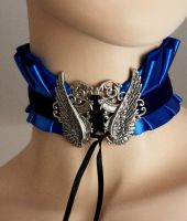 Blue winged choker I by Pinkabsinthe