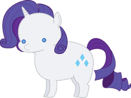 Crystal castles made me draw Rarity by Quivieres