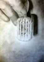 Miniature cage drawing by haloanime97