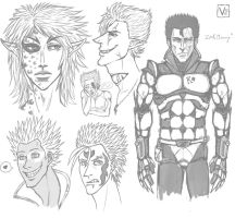 TK - Character Sketches 2 by VideoGameGirl