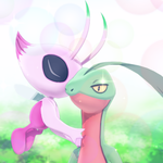 Grovyle and Shiny Celebi MMD by MMDSatoshi