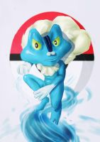 Froakie by redblacktac