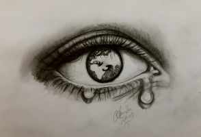 eye at the world by tonez1