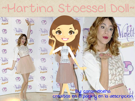Martina Stoessel Doll~ by Caramelozha