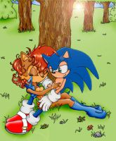 Sally and Sonic by Bound-For-Freedom