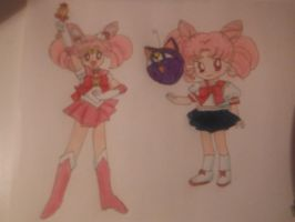 Chibi Moon and Rini by silvermoonmagic