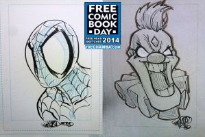 FCBD 2014 Sketches  09 - 10 by theCHAMBA