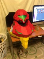Life sized samus papercraft by Jet306