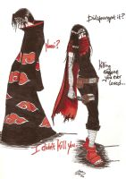 Itachi and Kaishi: confronted by Levii