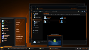 Tech-Light-GOLD Windows 7 Theme by Designfjotten