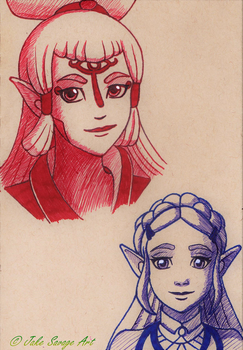 Zelda and Paya by Fires-storm