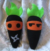 Carrot Patch - Ninja plushes by P-isfor-Plushes