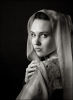 Portrait with a silken shawl by Daywish