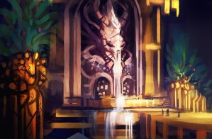 crystal water shrine // colors by xpe