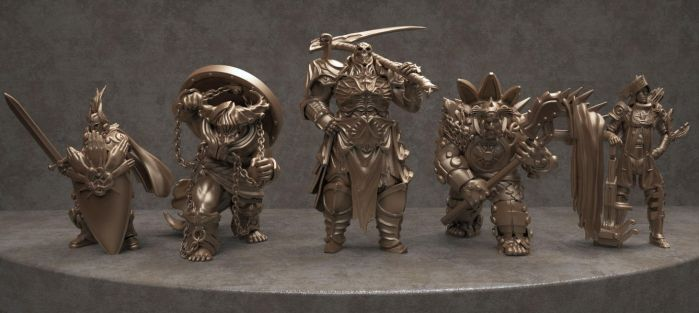 Demigods boardgame miniatures by fredTS