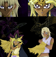 Request: Atem vs Marik Duel! by Artworx88