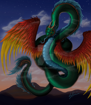 Quetzalcoatl -Color- by Shinri-san