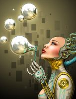 Robot Bubbles by Seter-Glorifin by Dseter