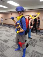 Sly Cooper Cosplay Pose 1 by KrazyKari