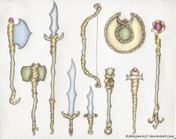 Ciruya Weapons by zbenjamin27