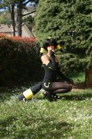 Umbreon_Under a tree by AlyTheKitten