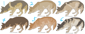 Coyotes adoptables 2 by KirinKade