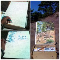 Plein Air Painting - Miwok Trail, Mill Valley CA by geralddedios