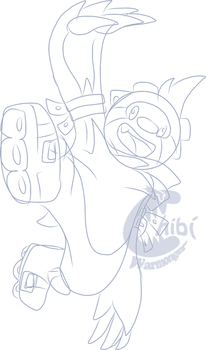 WIP Sonic Sloth Char thing Sketch by Chibi-Warmonger