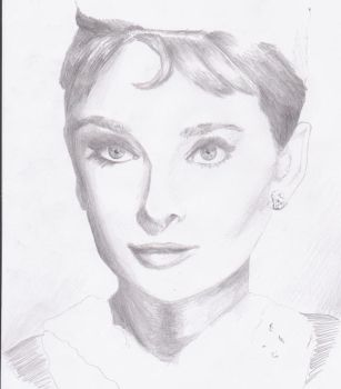 Audrey Hepburn Drawing - Incomplete by Diealco