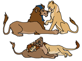CLOSED-Lion couples adoptables by Zari-Adoptables