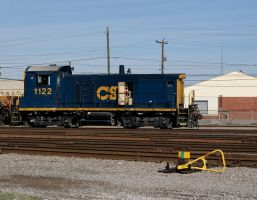 CSX 1122 at Augusta Yard by JamesT4