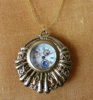 Tinkerer's Steampunk Necklace by cjgrand