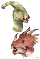 Color Dino Sketches by D-MAC