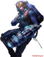 Pulsefire Ezreal Render by LOLLOLAGE