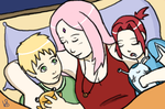 Sleeping Family by halogirl237