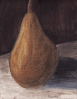 Oil paint pear by GoldFlareon