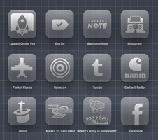 Assorted icons for Glasklart HD theme by jays838