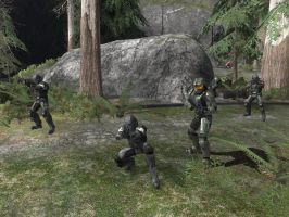 Chief and ODST squad 1 by AxelHonoo